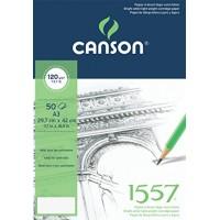 Склейка для графики Canson 1557 A3 (29.7х42см) 120 г/м2 50л.