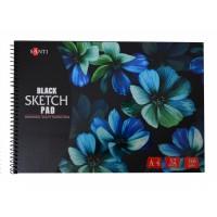 Альбом для рисунка Santi Black Sketch Pad A4 (21х29.7см) 150 г/м2 32л.