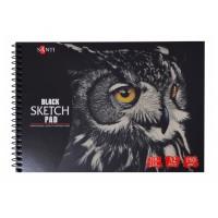 Альбом для рисунка Santi Black Sketch Pad A5 (15х20см) 150 г/м2 32л.
