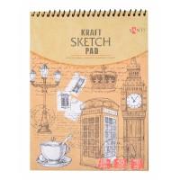 Альбом для рисунка Santi Kraft Sketch Pad A5 (15х20см) 70 г/м2 50л.