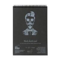 Альбом для рисунка Smiltainis Authentic Black A4 (21х29.7см) 160 г/м2 30 листов (4770644587590)