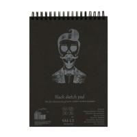 Альбом для рисунка Smiltainis Authentic Black А5 (14.8х21см) 160 г/м2 20 листов (4770644587996)