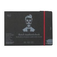 Альбом для рисунка Smiltainis Authentic Black А5 (24.5х17.6см) 160 г/м2 18 листов (4770644587712)