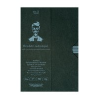 Склейка для рисунка в папке Smiltainis Authentic Black A4 (21х29.7см) 160 г/м2 30 листов (4770644587903)