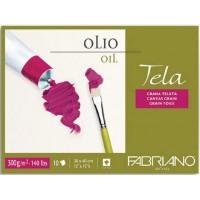 Склейка для масла Fabriano Tella зернистость холста А3 (30х40см) 300 г/м2 10л.