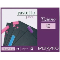 Склейка для пастели Fabriano Tiziano черная A4 (23х30.5см) 160 г/м2 24л.