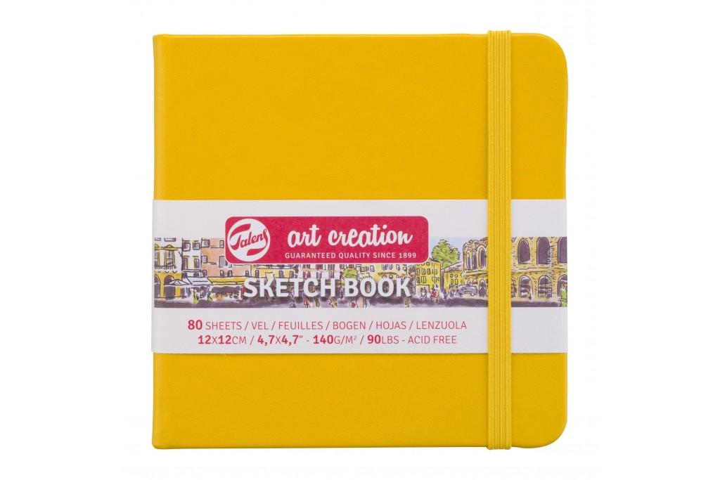 Блокнот для графики Royal Talens Art Creation желто золотой 12х12см 140 г/м2 80 листов