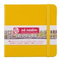 Блокнот для графики Royal Talens Art Creation желто золотой 12х12см 140 г/м2 80л.