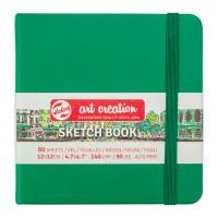 Блокнот для графики Royal Talens Art Creation зеленый 12х12см 140 г/м2 80л.