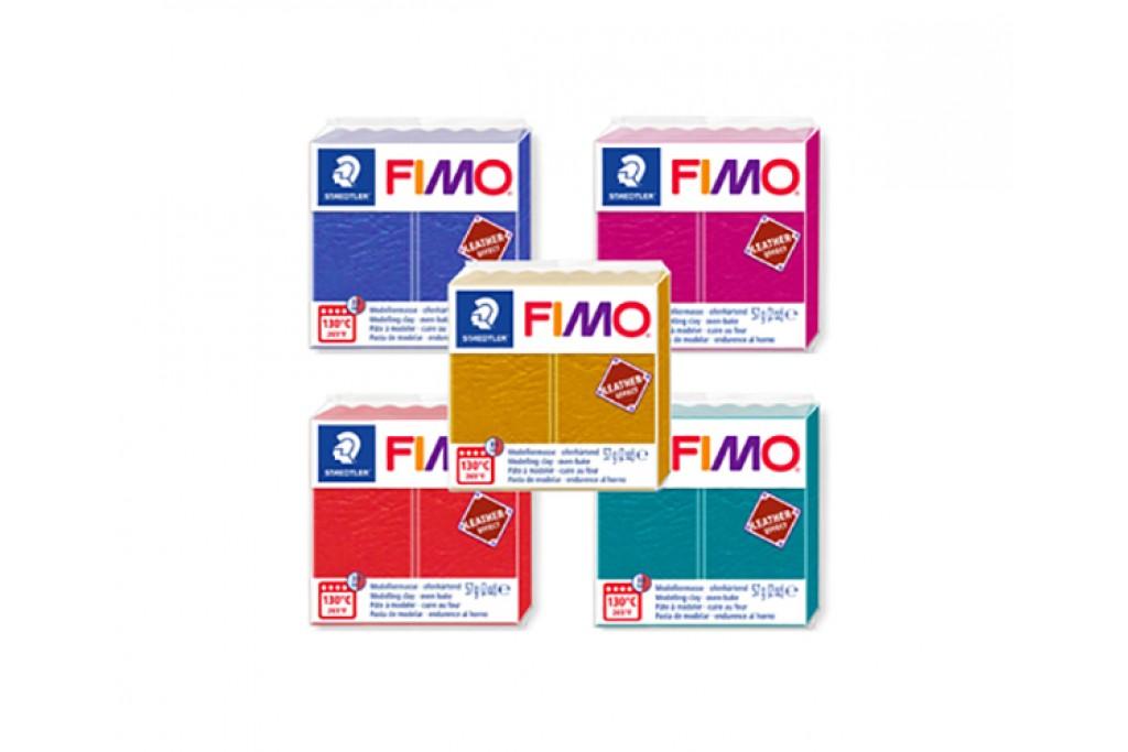 Пластика Fimo Leather Effect под обжиг 57 г эффект кожи