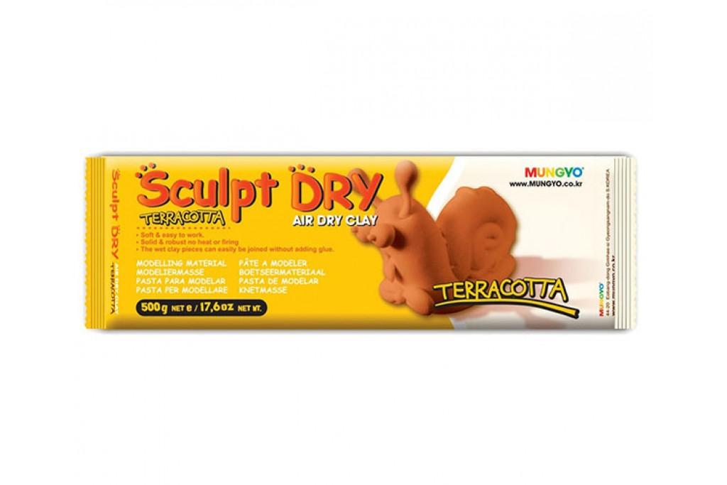 Пластика Mungyo Sculpt Dry самозатвердевающая 500г терракотовая (8804819065432)