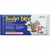 Пластика Mungyo Sculpt Dry самозатвердевающая 1000 г белая