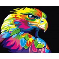 Картина по номерам BrushMe Радужный орел 40х50см