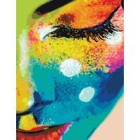 Картина по номерам BrushMe Женщина в красках 40х50см