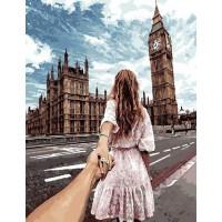 Картина по номерам BrushMe Следуй за мной Лондон 40х50см
