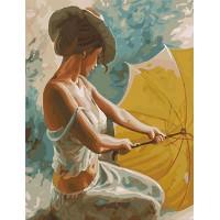 Картина по номерам BrushMe Мисс с зонтом 40х50см