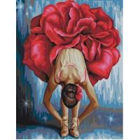 Картина по номерам BrushMe Цветочная балерина 40х50см