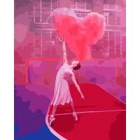 Картина по номерам BrushMe Балерина с воздушным седцем 40х50см