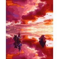 Картина по номерам BrushMe Пылающее море 40х50см