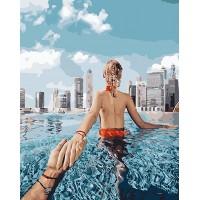 Картина по номерам BrushMe Следуй за мной в Дубае 40х50см