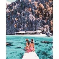 Картина по номерам BrushMe Девушки у острова Корон 40х50см