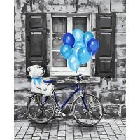 Картина по номерам BrushMe Синий праздник 40х50см