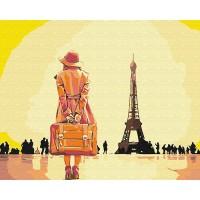 Картина по номерам BrushMe Путешественница в Париже 40х50см