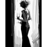 Картина по номерам BrushMe Леди в черном 40х50см