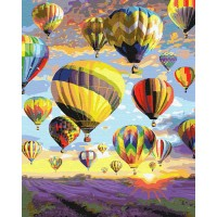 Картина по номерам BrushMe Воздушный шар в Провансе 40х50см
