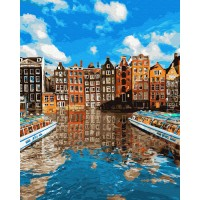 Картина по номерам BrushMe Красочный Стокгольм 40х50см