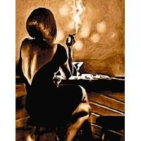 Картина по номерам BrushMe Девушка в баре 40х50см