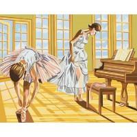 Картина по номерам BrushMe Балерины на разминке 40х50см