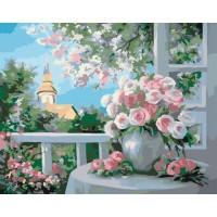 Картина по номерам Идейка Шарм цветущего сада 40х50см