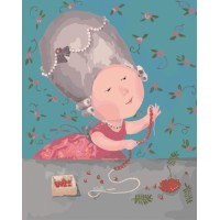 Картина по номерам Идейка Гапчинская Моє улюблене намистечко 40х50см коробка