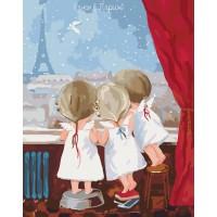 Картина по номерам Идейка Гапчинская Ранок в Парижі 2 40х50см коробка