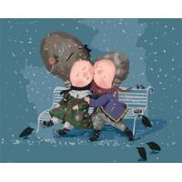 Картина по номерам Идейка Гапчинская Запиши мій цілунок … 40х50см коробка