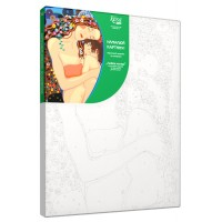 Набор акриловой живописи по номерам Любовь матери 30х45 см