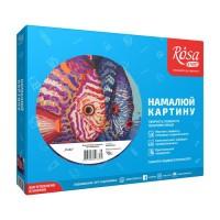 Набор акриловой живописи по номерам Рыбы 35х45 см