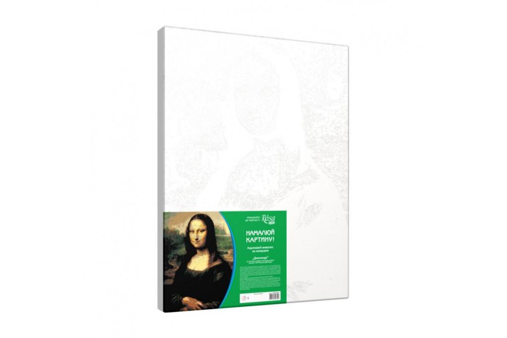 Набор для творчества Rosa акриловая живопись по номерам Джоконда 30х45 см