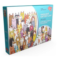 Картина по номерам Rosa 50 котов 35х45см коробка