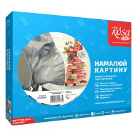 Картина по номерам Rosa Слон з печеньем 35х45см коробка