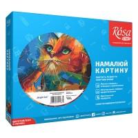 Картина по номерам Rosa Bright Cat 35х45см коробка