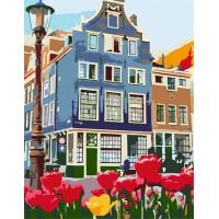 Картина по номерам Rosa Знаменитый Амстердам 35х45см