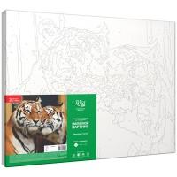Картина по номерам Rosa Влюбленные тигры 35х45см