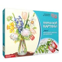 Набор акриловой живописи по номерам Цветы 35х45 см