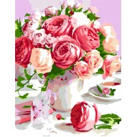 Картина по номерам Rosa Душистый букет 35х45см
