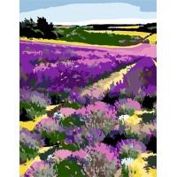 Картина по номерам Rosa Цветущее лавандовое поле 35х45см