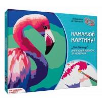Набор акриловой живопись по номерам, Pink flamingo, Rosa