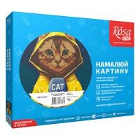 Картина по номерам Rosa Cat news 35х45см коробка