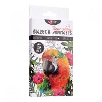 Набор акварельных маркеров Santi Sketch Marker Basic Colours 6 цветов